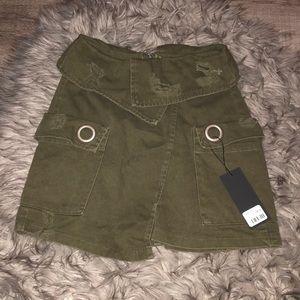 Carmar Military Green Cargo Skirt